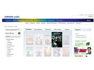 Samsung now offering mobile movie downloads | TechRadar