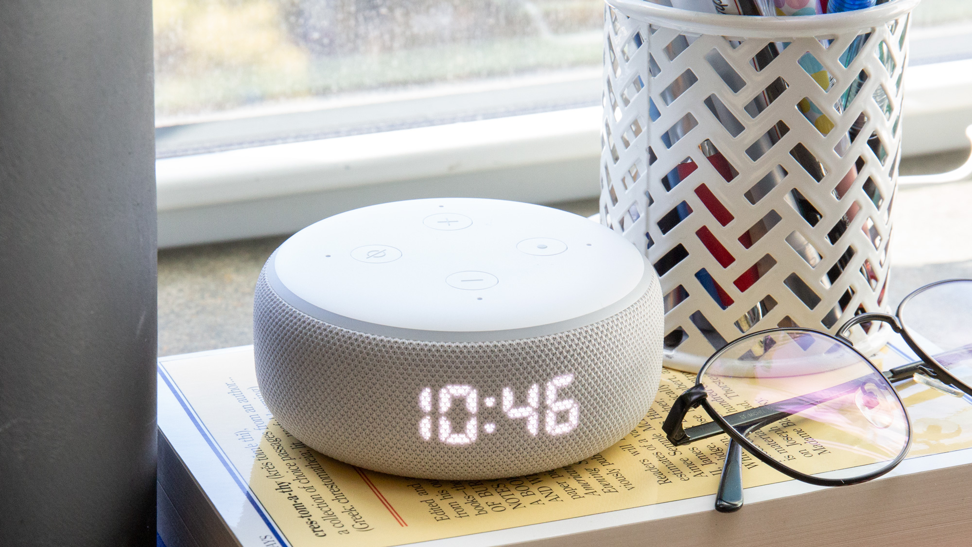best cheap smart home devices: Amazon Echo Dot with Clock