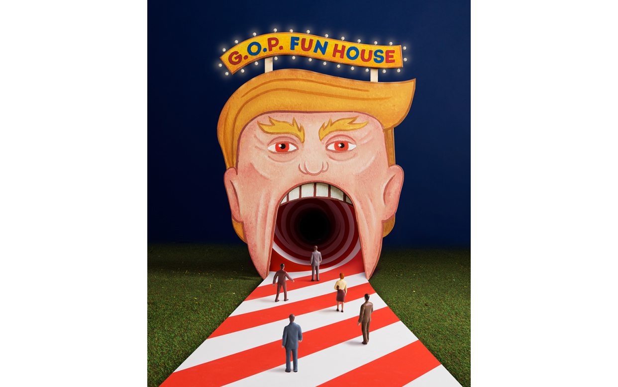 GOP funhouse NY Times Magazine cover