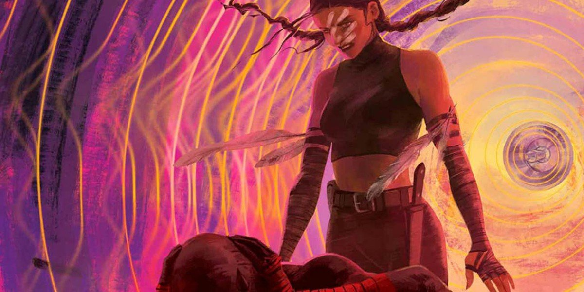 Echo and Daredevil Marvel Comic Cover