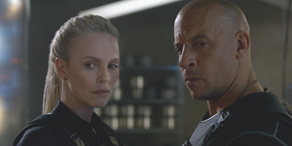 The Fate of the Furious Charlize Theron Vin Diesel evil stares