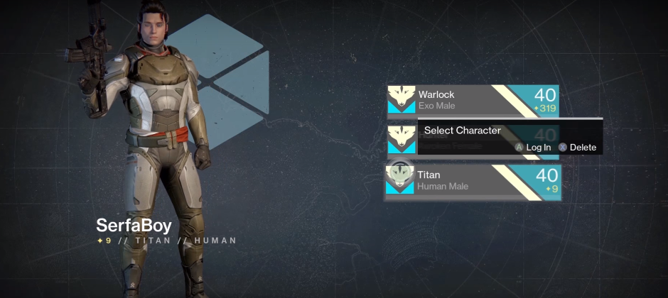 Destiny player goes from level 1 to 40 without leaving the tutorial
