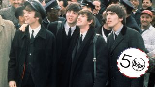 The Beatles arrive at Kennedy International Airport, New York, February 7, 1964