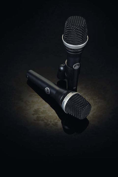 AKG's new C5 and D5 (standing) microphones.