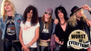 Guns N' Roses backstage in Chicago in 1987