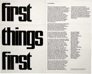 Cole Peters on updating the First Things First Manifesto
