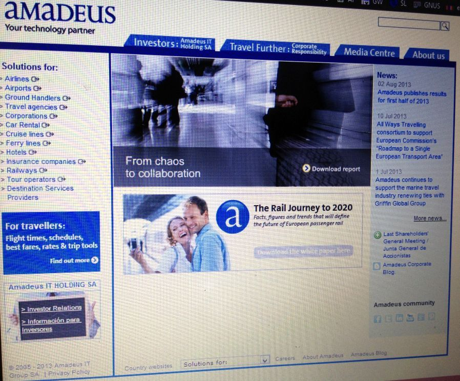 amadeus company report Sabre holdings company profile - swot analysis: and amadeus) moreover, it may euromonitor international's company profile reports are written by our travel.