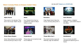 Do Amazon's work for it by greenlighting your favourite comedy