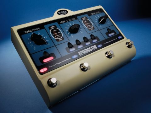 Not many knobs, but the T-Rex SpinDoctor's motorised controls facilitate easy patch editing