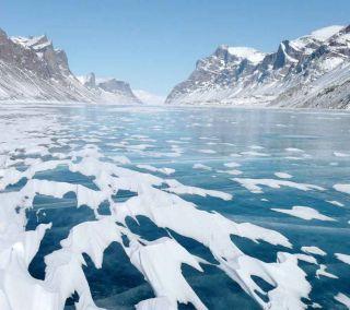 Lake Ayr on Baffin Island, Canada.