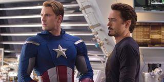 The Avengers Marvel Robert Downey Jr. And Chris Evans official MCU