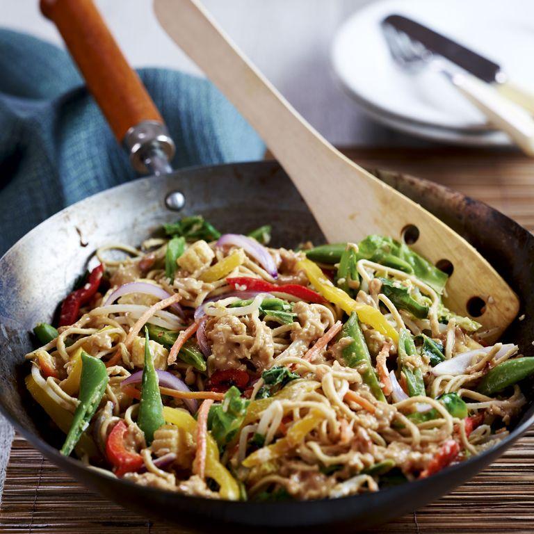 satay veggie stir-fry-woman&home