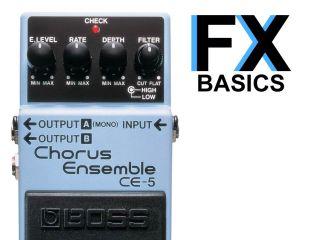 A typical chorus pedal