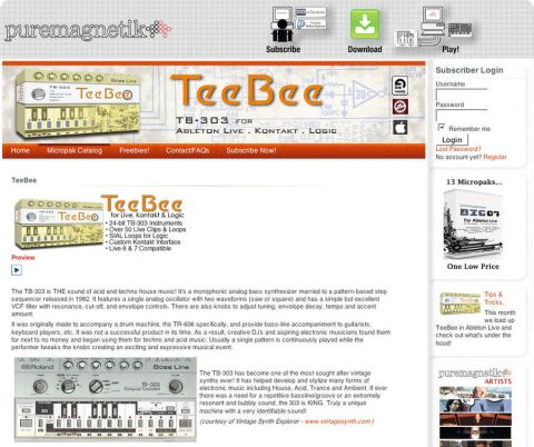 The TeeBee does a great job of emulating a TB303