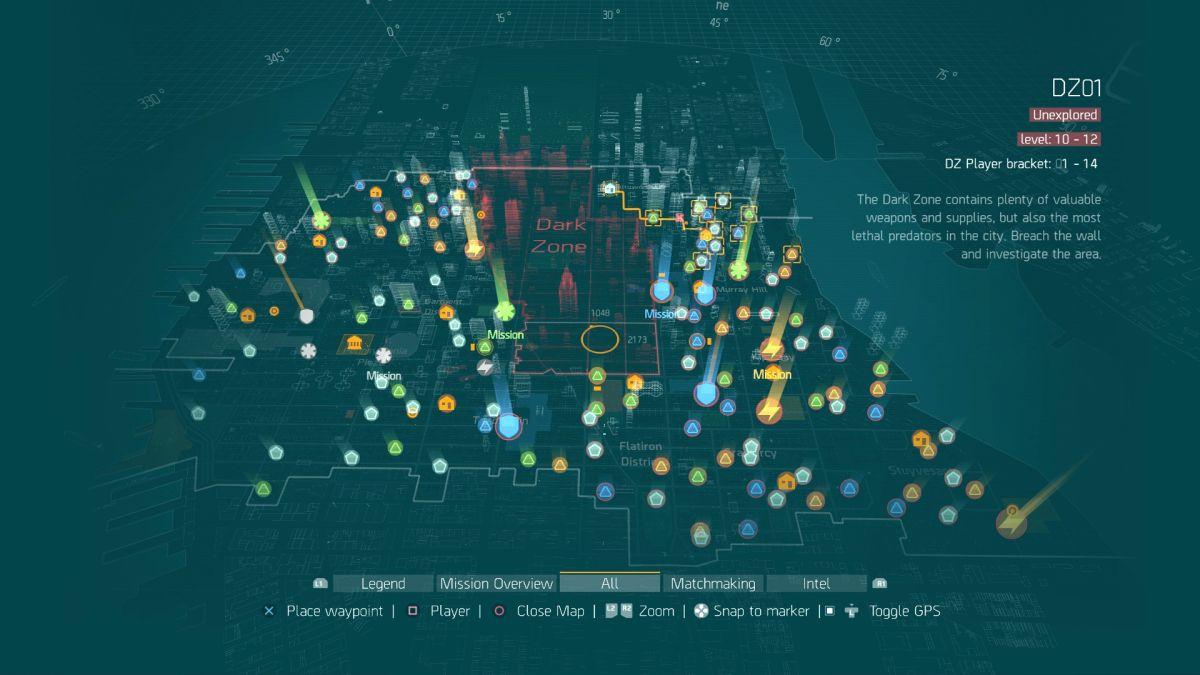 Matchmaking dark zone