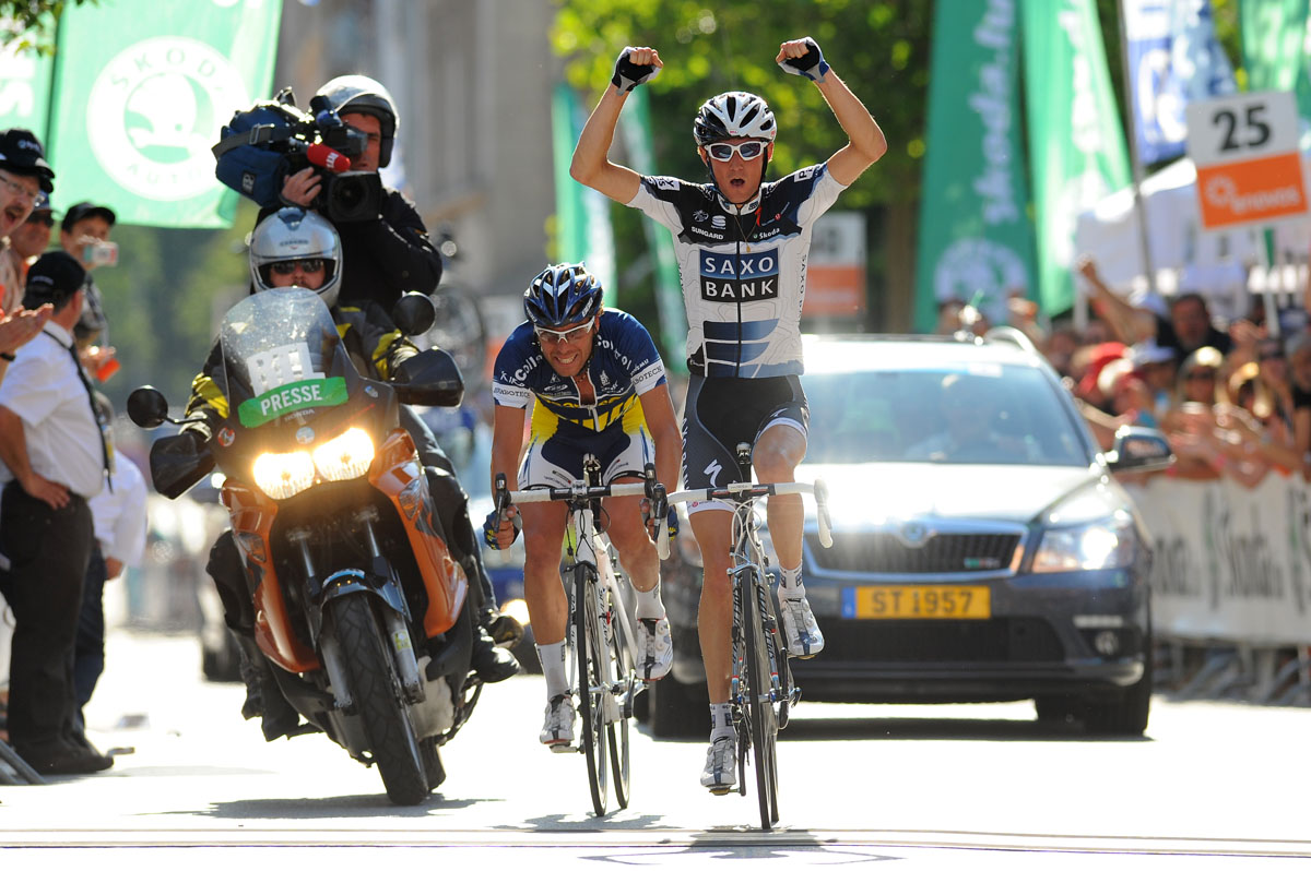 Frank Schleck wins, Tour of Luxembourg 2010, stage 2
