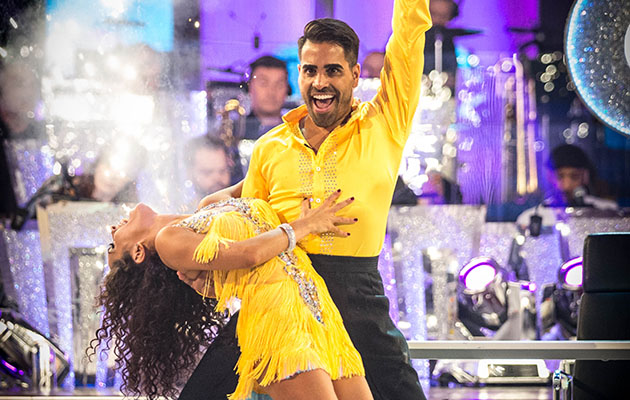 Strictly Come Dancing S16 e4 - shows Janette Manrara with celebrity contestant Dr Ranj Singh
