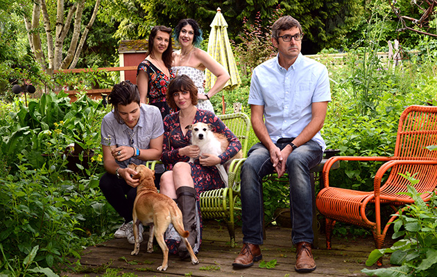 Louis Theroux's Altered States 1/3 –Louis with (clockwise from top left) Joelle, Marilyn, AJ and Mattias. They are part of an extended polyamorous family in Portland, Oregon, USA