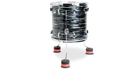 Floor tom Shakers have two layers of foam and spread the load of the tom foot over an 88mm diameter area