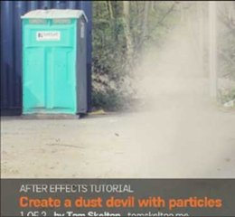 Create a dust devil with particles in After Effects