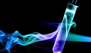 frozen test tube