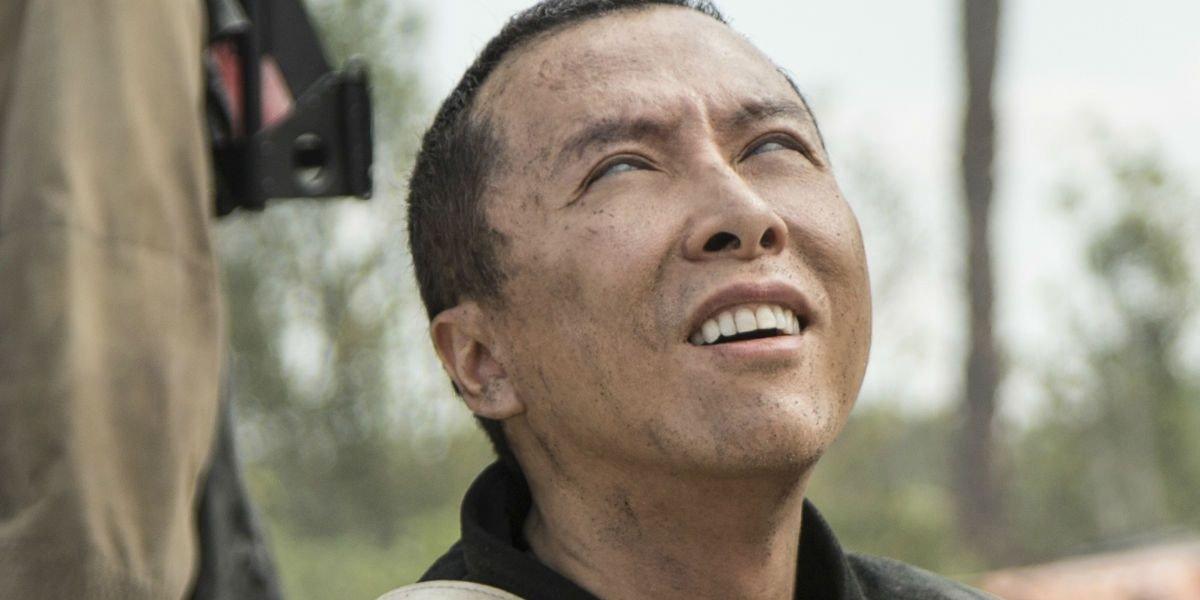 Donnie Yen as a blind man