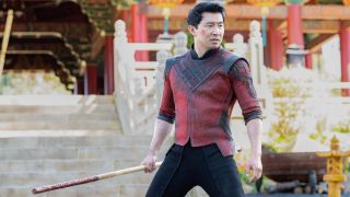 Simu Liu in shang chi and the legend of the ten rings, which is coming to Disney Plus on Nov. 12
