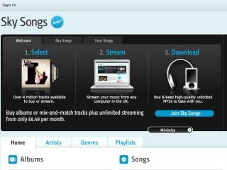 Sky Songs - new music streaming and download service launches on 19 October