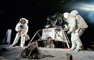 Buzz Aldrin and Neil Armstrong Apollo 11