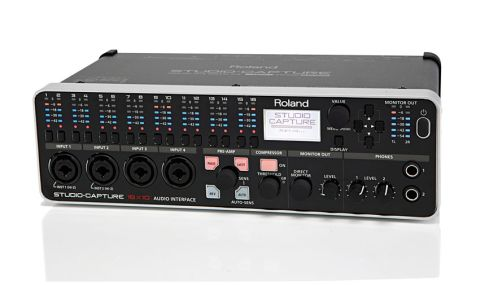 Studio Capture boasts an impressive 18 input/10 output configuration and high-quality conversion at up to 24-bit/192kHz