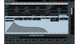 MPowerSynth features a tabbed interface.