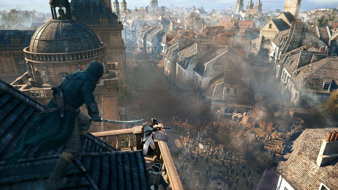 New Assassin S Creed Unity Gameplay Trailer Celebrates Bastille