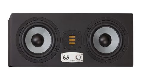 The front panel is simple with its two 6.5-inch drivers, central ribbon tweeter and multi-function DSP control