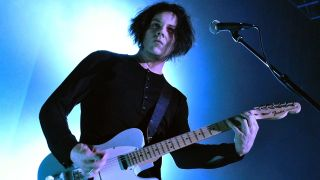 Jack White performs live on stage during a one-off solo concert in support of his debut solo album 'Blunderbuss', at the Kentish Town Forum on April 23, 2012 in London, United Kingdom