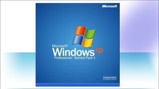 Windows XP cracked laptop