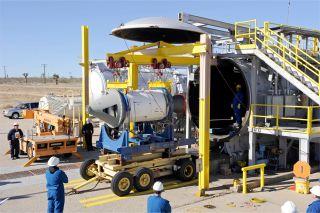 AFRL Rocket Lab motor installation