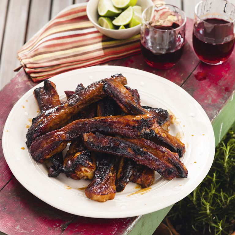 Sweet chilli and Lime pork ribs - summer recipes - woman&home July 2013
