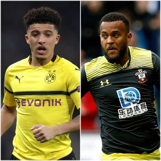 Jadon Sancho and Ryan Bertrand