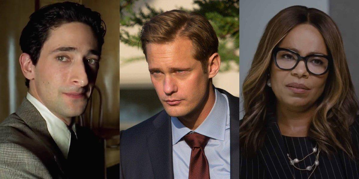 Adrien Brody in The Pianist, Alexander Skarsgard on Big Little Lies, Sanaa Lathan on Succession