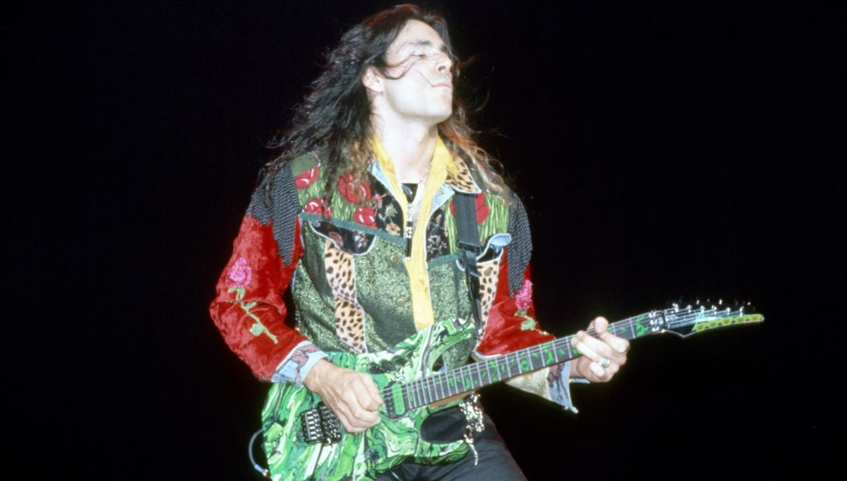 Watch Steve Vai Shred for Eight Minutes at Donington