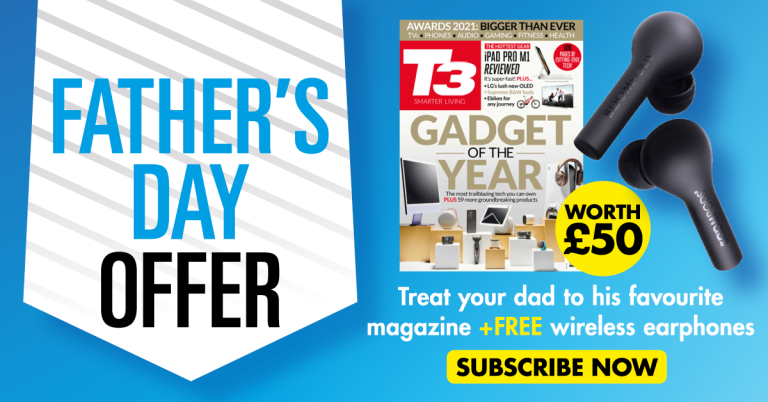 Father's day offer – treat your dad to his favourite magazine and FREE wireless earphones worth £50!