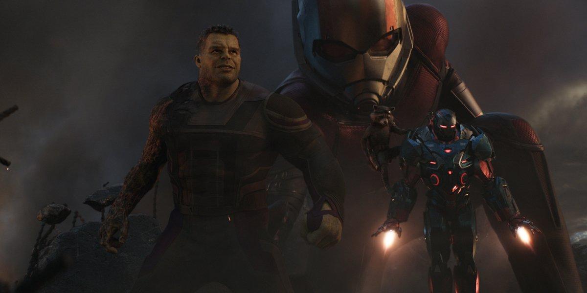 Avengers: Endgame Hulk Giant Man Rocket and War Machine
