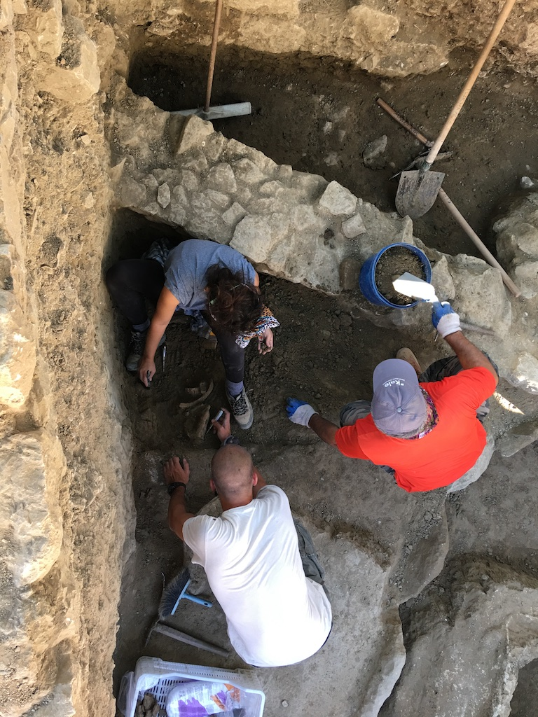 Archeologists excavate parts of the Myra theater in Demre, Turkey.