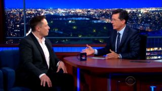 Colbert Interviews Musk