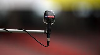 Sky Sports microphone