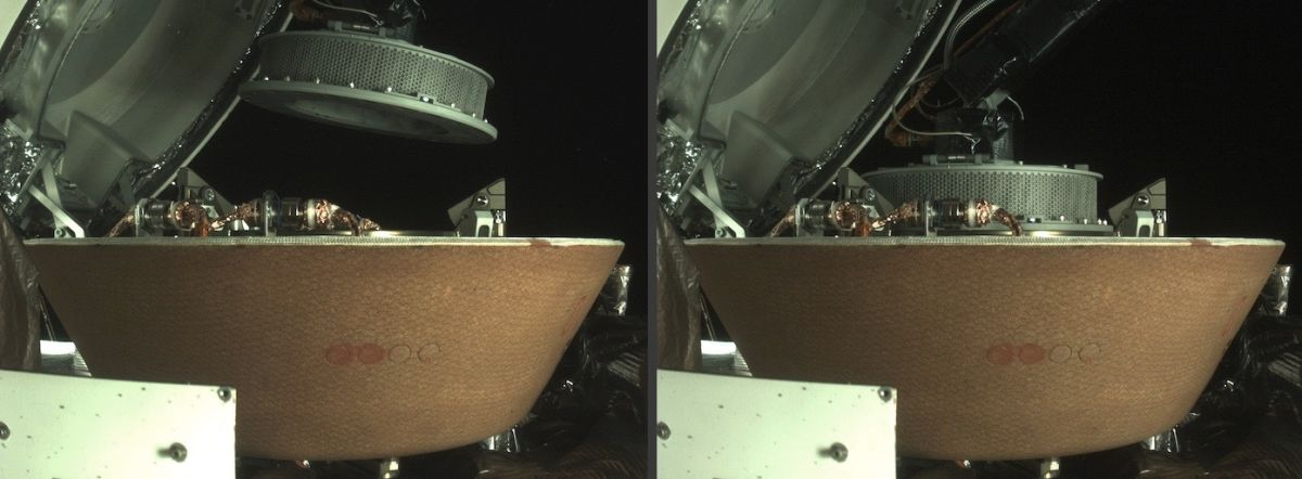 NASA asteroid probe stows space-rock sample for return to Earth