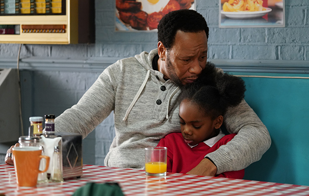 EastEnders Mitch Baker and Bailey Baker