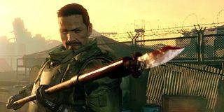 soldier wields spear in Metal Gear Survive