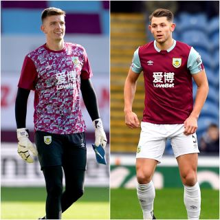 Burnley duo Nick Pope and James Tarkowski