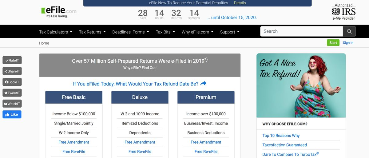 eFile online tax filing service review
